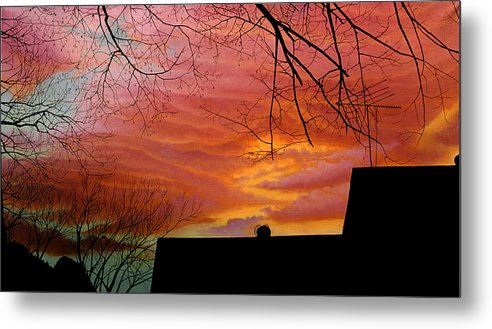 Skyscape Metal Print featuring the painting Tuesdays Sky by Gary Hernandez