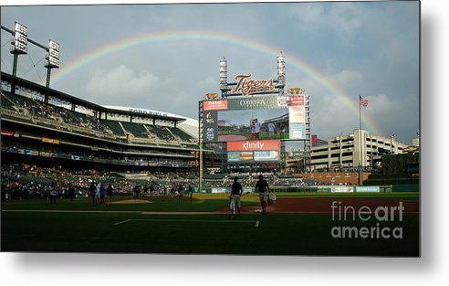 American League Baseball Metal Print featuring the photograph Chicago Cubs V Detroit Tigers by Duane Burleson