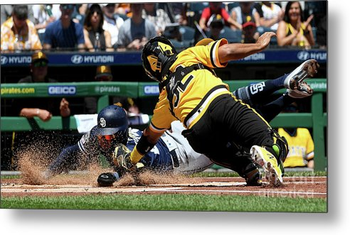 People Metal Print featuring the photograph San Diego Padres V Pittsburgh Pirates by Justin Berl