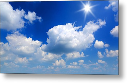 Scenics Metal Print featuring the photograph Sun And Clouds by Macroworld