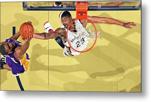 Nba Pro Basketball Metal Print featuring the photograph Anthony Davis by Layne Murdoch