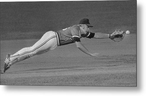 American League Baseball Metal Print featuring the photograph Buddy Bell by Ronald C. Modra/sports Imagery