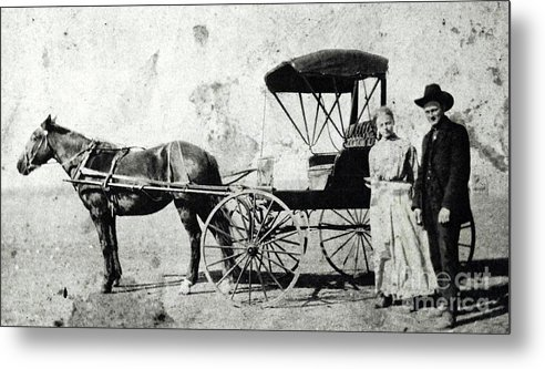 Horse Drawn Carriage Metal Print featuring the photograph Days Gone By by Randall Weidner