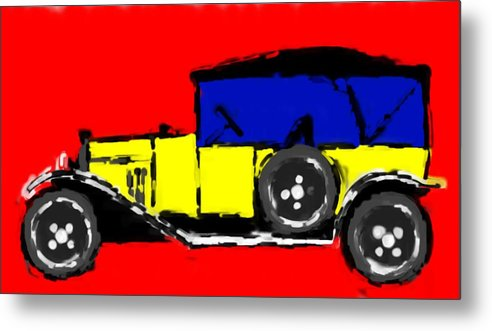F1 Metal Print featuring the mixed media F1 by Asbjorn Lonvig