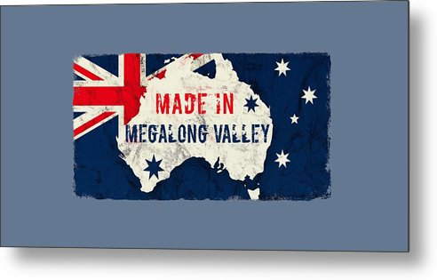 Megalong Valley Metal Print featuring the digital art Made In Megalong Valley, Australia #megalongvalley #australia by TintoDesigns