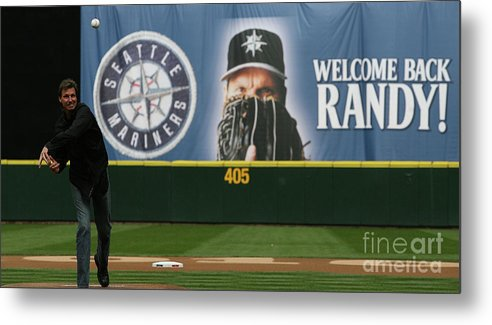 People Metal Print featuring the photograph Randy Johnson by Otto Greule Jr