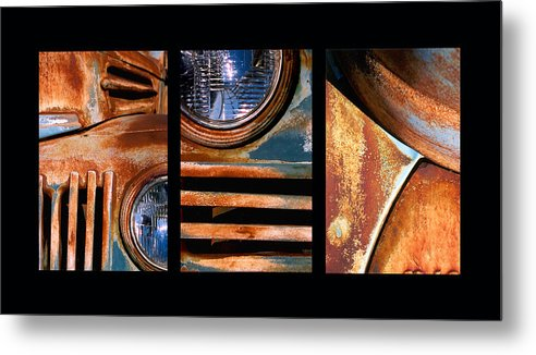 Abstract Metal Print featuring the photograph Red Head On by Steve Karol