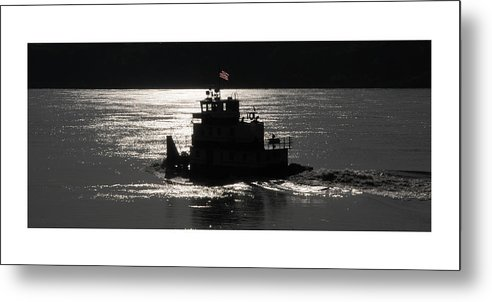 Riverboat Metal Print featuring the photograph Tugboat by Leon Hollins III
