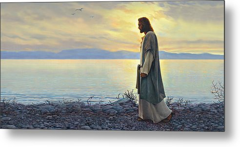 Jesus Metal Print featuring the painting Walk With Me by Greg Olsen