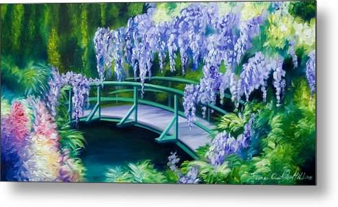 Bright Clouds Metal Print featuring the painting Gardens Of Givernia II by James Christopher Hill