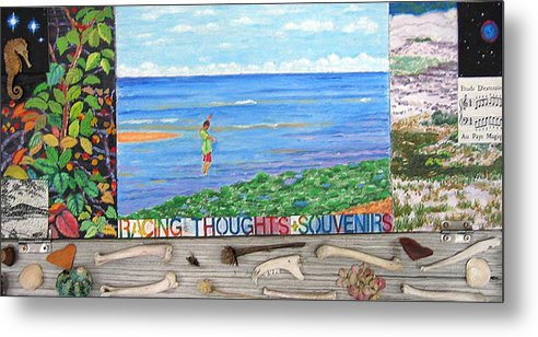 Cape Cod Metal Print featuring the painting I Sell Prints by Susan Stewart