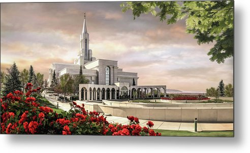 Bountiful Metal Print featuring the painting Bountiful Temple by Brent Borup