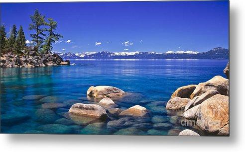 Lake Tahoe Metal Print featuring the photograph Deep Looks Panorama by Vance Fox