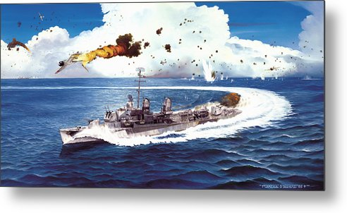 Aviation Metal Print featuring the painting Hell Over the Hadley by Marc Stewart