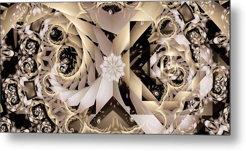 Abstract Metal Print featuring the digital art Linen and Silk by Ron Bissett