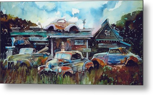 Fords Metal Print featuring the painting Lytton Station by Ron Morrison