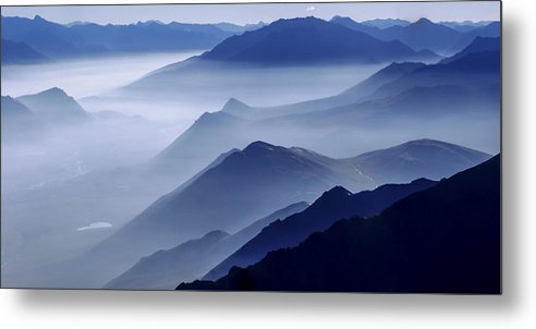 Morning Mist Metal Print featuring the photograph Morning Mist by Chad Dutson