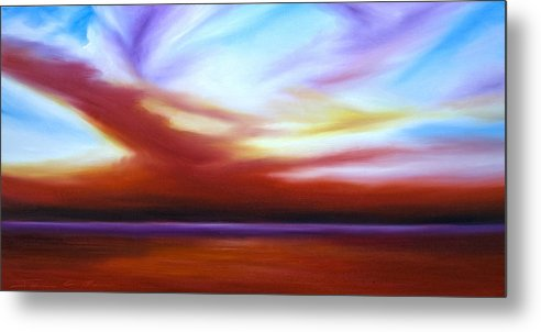 Skyscape Metal Print featuring the painting October Sky III by James Christopher Hill