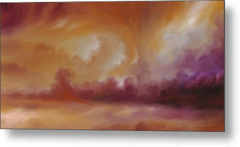 Tempest Metal Print featuring the painting Storm Clouds 2 by James Christopher Hill