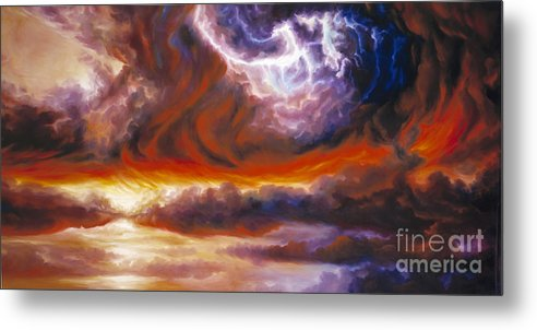 Tempest Metal Print featuring the painting The Tempest by James Christopher Hill