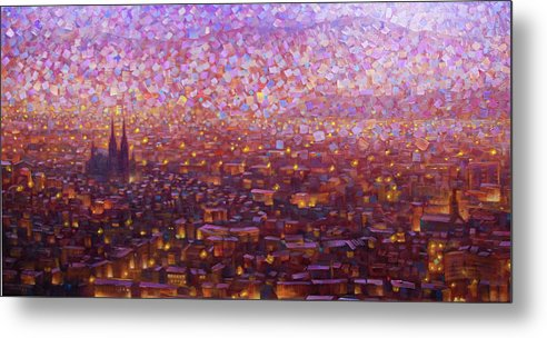 Rob Buntin Metal Print featuring the painting Cathedrale 1 by Rob Buntin