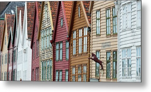 Panoramic Metal Print featuring the photograph Colourful Houses In A Row by Keith Levit / Design Pics