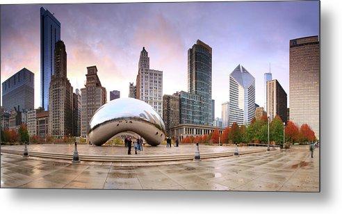 Dawn Metal Print featuring the photograph Millennium Park, Chicago, Illinois,usa by Travelpix Ltd