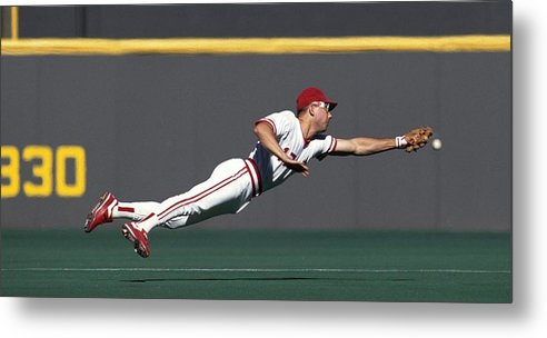 Ball Metal Print featuring the photograph Chris Sabo by Ronald C. Modra/sports Imagery
