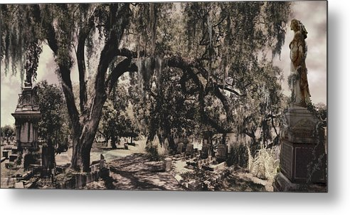 Castle Metal Print featuring the painting Magnolia Cemetery I by James Christopher Hill