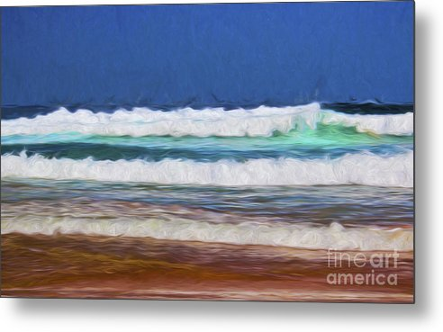 Surf Metal Print featuring the photograph Surfs up by Sheila Smart Fine Art Photography
