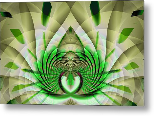 Fractal Metal Print featuring the digital art Fractal Lotus by Frederic Durville