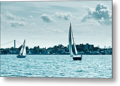 Sailboat Metal Print featuring the photograph Covering by Arthur Sa