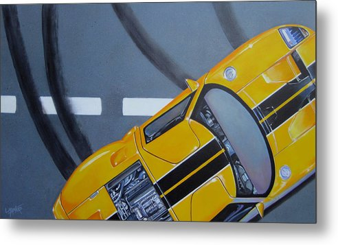 Car Metal Print featuring the painting Out For A Spin by Lynn Masters