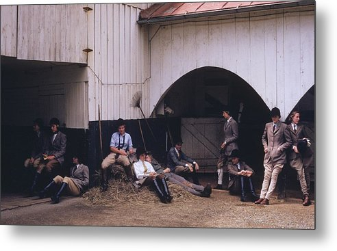 Horse Metal Print featuring the photograph School Riding by Slim Aarons