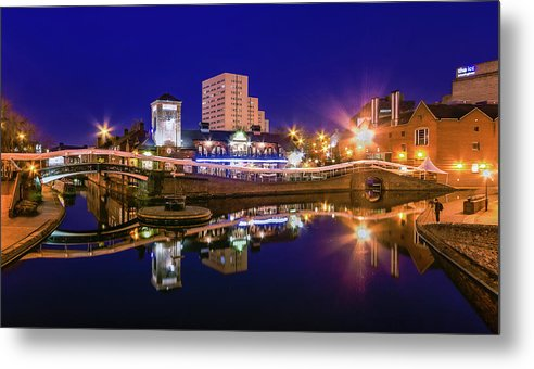 Birmingham Metal Print featuring the photograph Blue Hour In Birmingham by Fiona Mcallister Photography