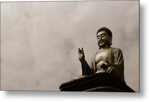 Tranquility Metal Print featuring the photograph Monument by Welcome To Buy My Photos