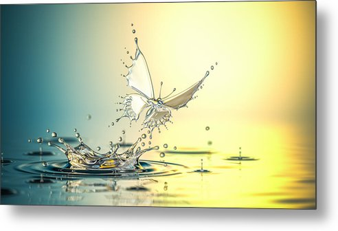 Spray Metal Print featuring the photograph New Life by Blackjack3d