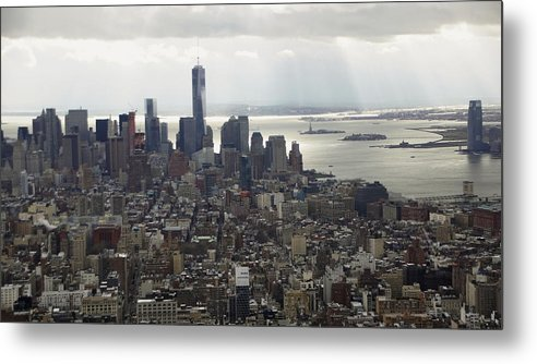 Sun Rays Metal Print featuring the photograph Rays over the Hudson by Linda C Johnson