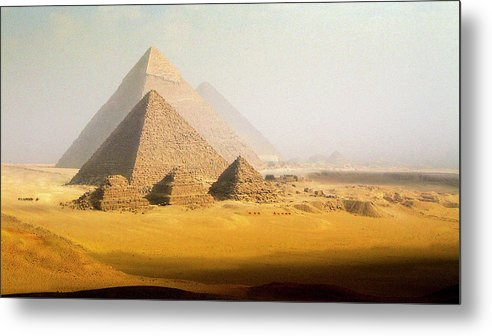 Scenics Metal Print featuring the photograph The Pyramids, Giza, Egypt by Nick Brundle Photography