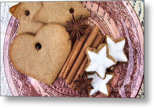 Ginger Metal Print featuring the photograph Christmas Gingerbread by Nailia Schwarz