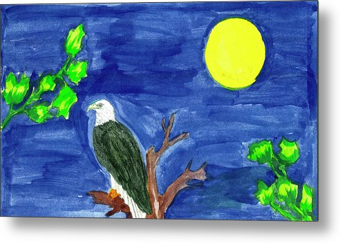 Metal Print featuring the painting Eagle by Harry Richards
