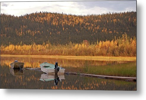 Harding Lake Metal Print featuring the photograph Peaceful Harding Lake by Jim and Kim Shivers