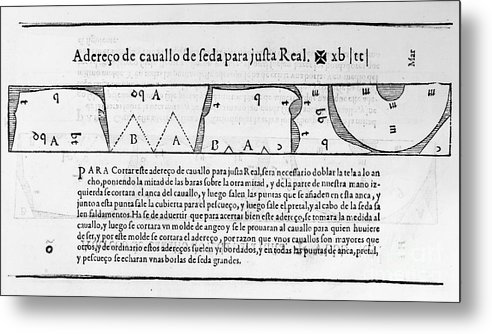 1589 Metal Print featuring the photograph Tailors Pattern Book, 1589 by Granger