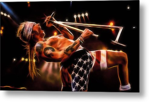 Axl Rose Metal Print featuring the mixed media Axl Rose Collection by Marvin Blaine
