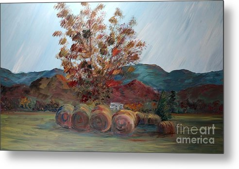 Autumn Metal Print featuring the painting Arkansas Autumn by Nadine Rippelmeyer