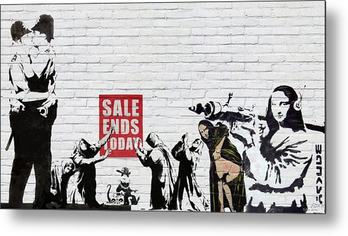 �urban Graffiti� By Serge Averbukh Metal Print featuring the photograph Banksy - Saints and Sinners  by Serge Averbukh