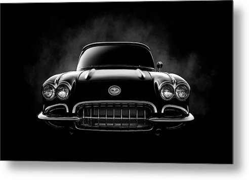 Corvette Metal Print featuring the digital art Circa '59 by Douglas Pittman