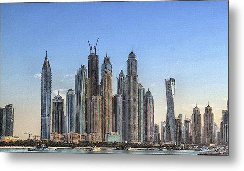City Metal Print featuring the digital art Downtown Dubai by Sandeep Gangadharan