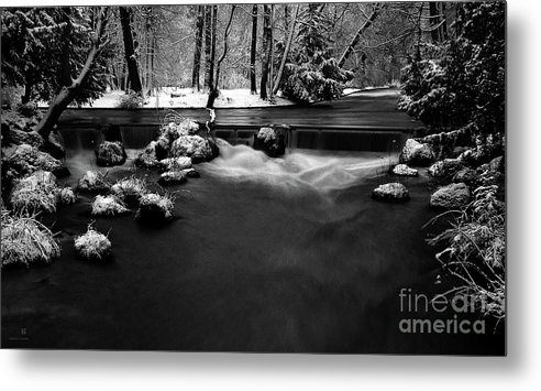 Creek Metal Print featuring the photograph Eisbach In The Winter by Hannes Cmarits
