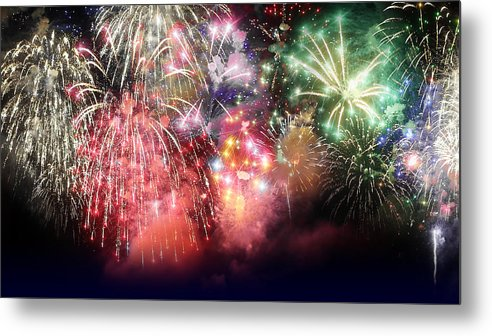 Fireworks Metal Print featuring the photograph Fireworks 2 by M Urbanski